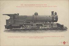 ARGENTINA RAILWAYS FFCC LOCOMOTIVE CONSTUITE PAR A. BORSIG N°213 FLEURY