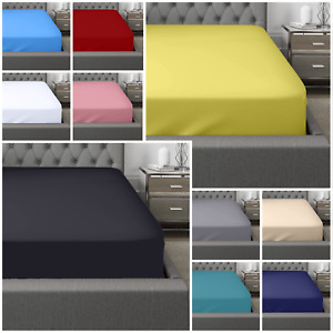 400 THREAD COUNT 100% EGYPTIAN COTTON FITTED BED SHEET SET WITH 2 PILLOW CASES