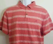 Men's Banana Republic Pink Striped short sleeve Polo L