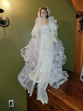 """Seymour mann connoisseur porcelain 24"""" Bride doll with Angel wings"""