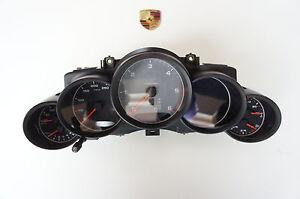 Porsche 958 Cayenne Diesel Instrument Cluster Tachometer Silver+GPS 95864133413