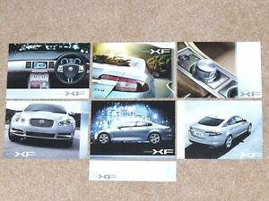 Set of 6 JAGUAR XF Sales Cards circa 2007-2010 - Mint Condition