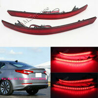 Pair LED Brake Lights For Kia K5 Optima 2011-2013 Rear Bumper Reflector Fog Lamp