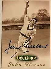 1995 FUTERA HERITAGE CRICKET COLLECTION CARD N0 48/60 SIGNED JOHN GLEESON