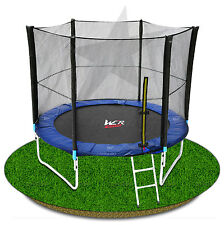 10FT TRAMPOLINE WITH SAFETY NET ENCLOSURE SPRING PADDING LADDER RAIN COVER