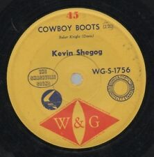"KEVIN SHEGOG    Rare 1963 Oz Only 7"" OOP W&G Label Country Single ""Cowboy Boots"""