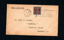 GUERNSEY WARTIME BLUED PAPER 1d FIRST DAY COVER