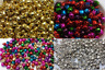 50-100 x Gold/mixed/silver, mini jingle bells, charms, 6x8mm , 8x10mm, & 10x12mm