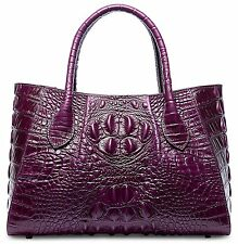 Pifuren Designer Crocodile Top Handle Handbags Womens Genuine Leather Tote Bags