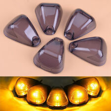 5X Cab Roof Marker Smoked Lamps Light Len Cover fit for ford F250 F350 F450 F650