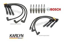 For Audi A4 VW Passat V6 Set of 2 Spark Plug Wire Sets w/ 6 Bosch Spark Plugs