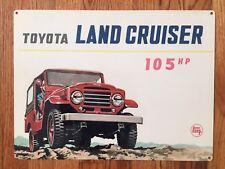 Toyota Land Cruiser Jeep 4WD BJ FJ J40 50 60  105HP Vintage Poster Ad Metal Sign