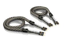 1,50m VIABLUE SC-6 air argenté Mono-Fil Câble pour haut-parleur 1,5m (1 paire)