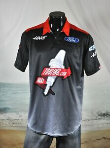 Cole Custer NASCAR Pit Crew SHIRT Sz M Stewart HAAS TOOLING.com FORD Racing NEW