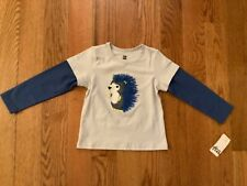 Nwt Tea Collection Boys 18-24M Double Sleeve Top w/ Hedgehog Graphic