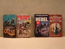 Lot Of 4 Paperback books, Western  by: White, Moore, Madden, Luckey