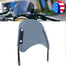 Universal Motorcycle 5-7'' Round Headlight Smoke Fairing Windshield Windscreen