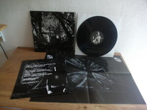 AD HOMINEM - CLIMAX OF HATRED LP mint + poster Satanic Warmaster Judas Iscariot