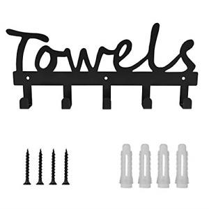 Towel Holder 5 Hooks for Bathroom, Towel Racks, Towel Hooks for Bathroom, Pool,