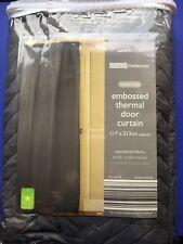 New Grey EasyFit Thermal Door Curtain Block Drafts Warm Draught stopper