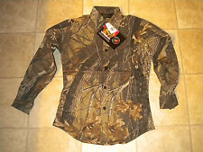 Walls Liberty Youth Camo Hunting Shirt Realtree Hardwoods (sz XL regular Junior)