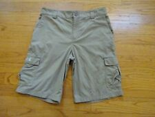 Under Armour Boys Beige Loose Golf Shorts Size YLG