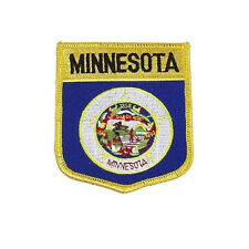MINNESOTA USA STATE SHIELD FLAG EMBROIDERED IRON-ON PATCH CREST BADGE .. NEW