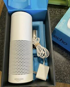 Amazon Echo w/Alexa voice control personal Assistant & Bluetooth Speaker White 1