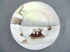 A Royal Bayreuth 19th Century transfer print Child's Plate Snow Babies Christmas