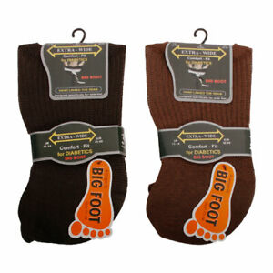Mens 3 Pairs Extra Wide Non Elastic Soft Top socks 6-11 11-14 Cotton MiDiabetic