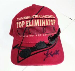VTG 12th Annual O'Reillys Top Eliminator NHRA Racing Adjustable Hat 1999 Signed