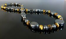 NEW Mens Chunky Magnetic Hematite Necklace High Strength Magnet Healing