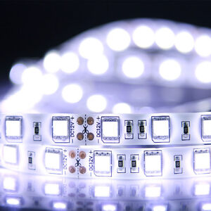Cool White Waterproof 5050 SMD 300LED 5M 60LED/M Light Strip Flexible 12V