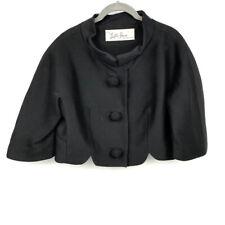 Lilli Ann Cropped Swing Bolero Jacket 16 Oversized Buttons 3/4 Sleeve Womens