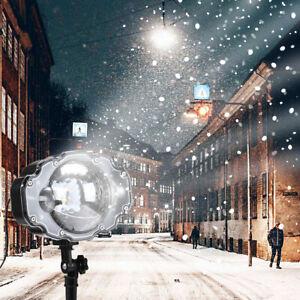 LED Snowfall Projector Light Waterproof IP65 Outdoor Xmas Snowflake Spotlig lt