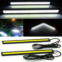 Pair COB Xenon White 100 LED DRL Daytime Running Light Backup Interior Strip 12V
