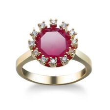 Classical Round Cut Natural Rose Topaz Kunzite Yellow Gold Plated Ring Size 6-10