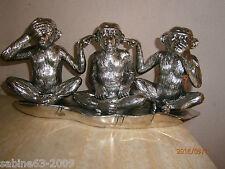 Die 3 Affen Figur Statue Dekoration Kultfigur 21225