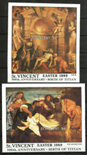 Saint Vincent Stamp - 89 Easter paintings by Titian Stamp - NH