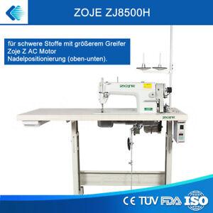 Aufgebaut - Leder Nähmaschine Zoje für schwere Stoffe mit größem Greifer