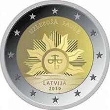 LETONIA 2 euro 2019 El Sol Naciente Latvia  Lettland  Latvijas