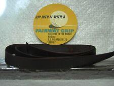 14 Dark Brown Fairway leather golf grips
