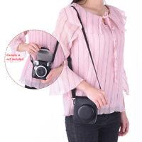 Vintage PU Camera Bag for Fujifilm Instax Mini 90 Instant Film Camera Black B9P7
