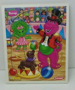 Playskool Barney Dinosaur Preschool Puzzle Circus 8 Pcs. 00328 Vintage 2000