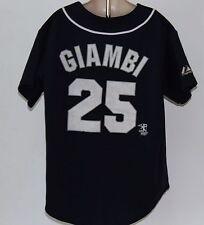 MLB New York Yankees Jason Giambi Majestic Kids Medium Blue Jersey