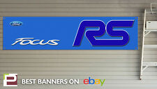 FORD FOCUS RS Workshop Banner, Banner in PVC con occhielli, mk3 FOCUS RS BLU