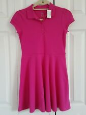The Childrens Place Polo Dress School Uniform Girls Size 10/12 Fuchsia
