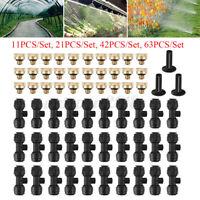 """1/4"""" Nebulizzatore Ugello Giunti Tee+Diffusore Acqua Ugello Irrigazione Giardino"""