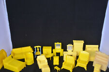New Listing19 Piece Renwal Dollhouse Kitchen Set of Yellow Furniture, Assorted scale