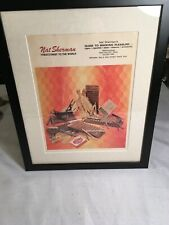 FROM ORIGINAL NYC STORE NAT SHERMAN FRAMED ADVERTISING POSTER 15 X 12 INCHES